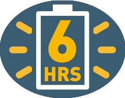 six hours use